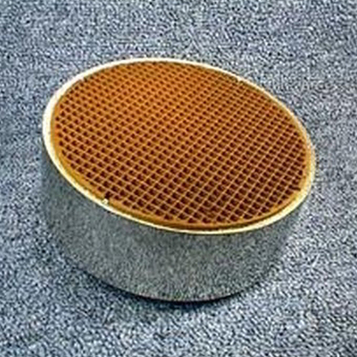 5.66'' round x 3'' with metal band 25 cells per square inch replacement catalytic combustor