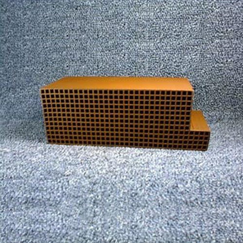 2.5'' x 6.875'' x 3'' with a notch 25 cells per square inch replacement catalytic combustor