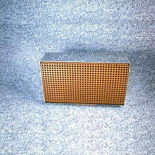 3.875'' x 6.875'' x 2'' with metal band 25 cells per square inch replacement catalytic combustor