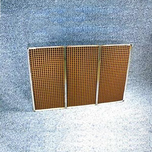 6'' x 10.625'' x 2'' with metal band 25 cells per square inch replacement catalytic combustor