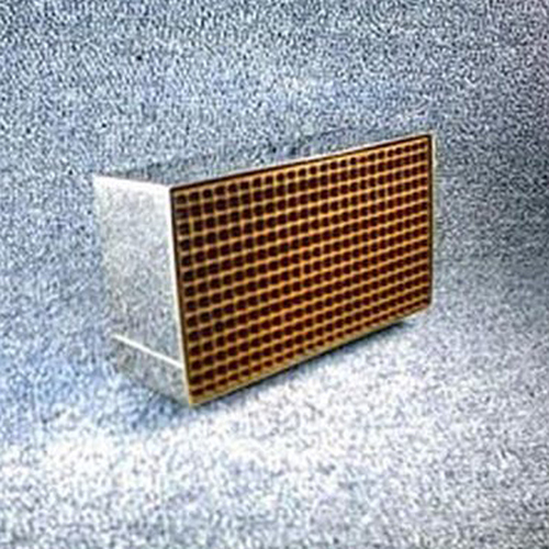 2.875'' x 6.875'' x 2'' with metal band 25 cells per square inch replacement catalytic combustor