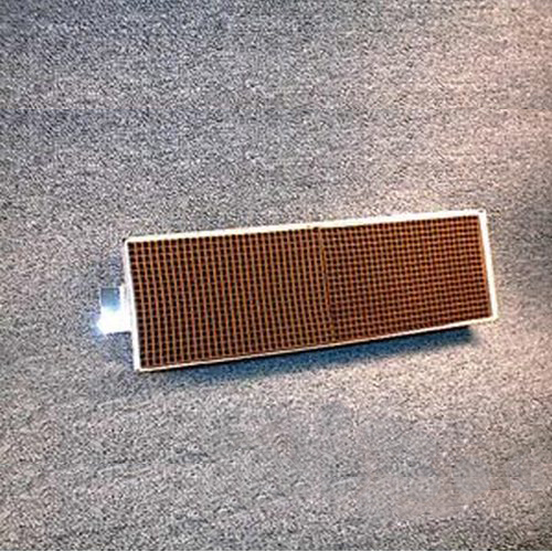 3.625'' x 12'' x 2'' with metal band and tab 25 cells per square inch replacement catalytic combustor