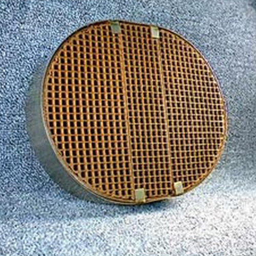 7'' x 8.65'' x 2'' oval with metal band 16 cells per square inch replacement catalytic combustor