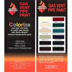 Stove Bright - Gas Vent Paint Color Chart (12 pack)