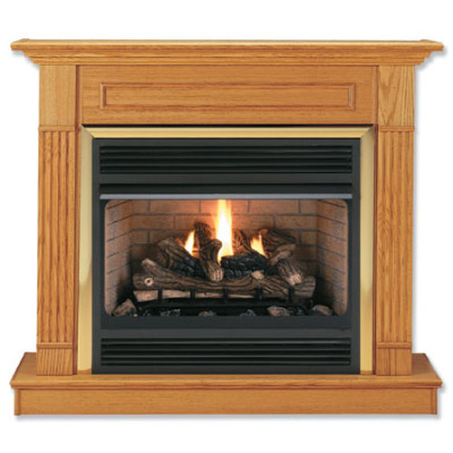 36\'\' Oak Wall Surround In Honey Oak Finish for 6844 Firebox
