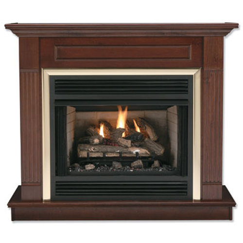 36'' Honey Oak Finish Wall Surround for 6844 Firebox