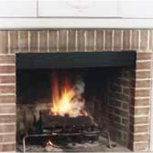 4'' Black Fireplace Smoke Guard