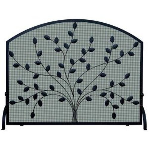 "Spreading Leaf Wrought Iron Screen 44'' W x 34"" H"