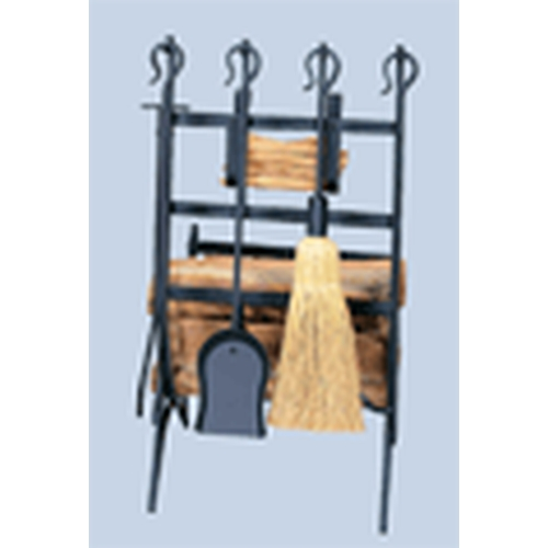 Log & Kindling Rack with Firetools