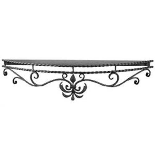 Wrought Iron Mantle Shelf 60'' long , 10'' deep at center