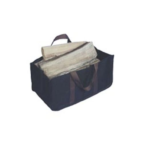 Jumbo Log Carrier Black with Brown Handles 24'' long x 12'' wide x 12'' high