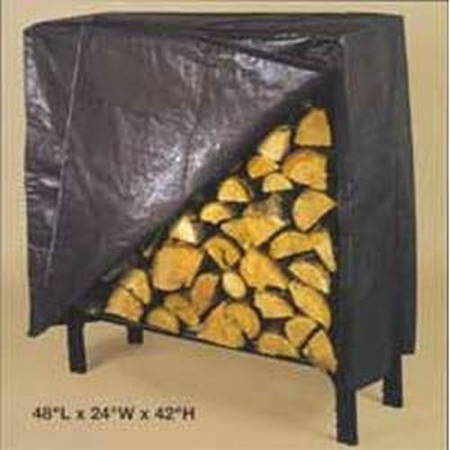 Black poly cover for 45'' log rack