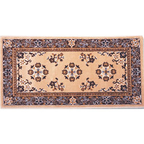 22'' x 44'' Beige Oriental Virgin Wool Hearth Rug