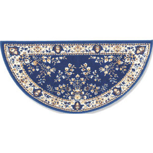 44'' Blue Oriental Virgin Wool Half-Round Rug