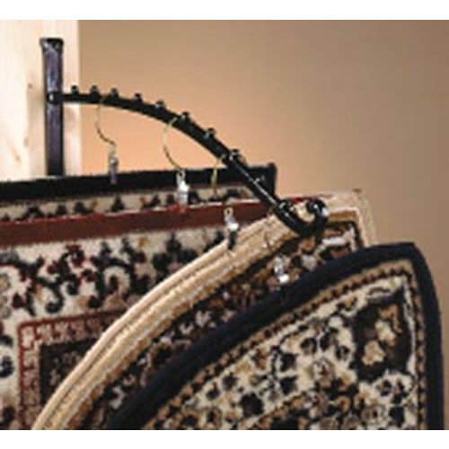 Waterfall-Style Wrought Iron Hearth Rug Rack