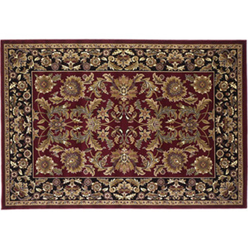 39'' x 59'' Red & Black Kashan Hearth Rug