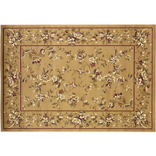 39'' x 59'' Beige Floral Delight Hearth Rug