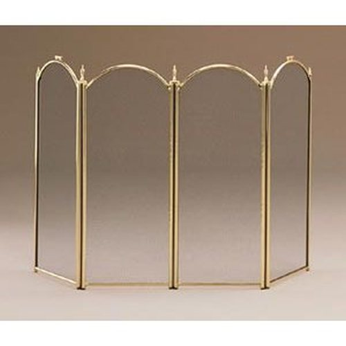 Plated Brass 4 Fold Screen 32'' high with 12'' wide panels
