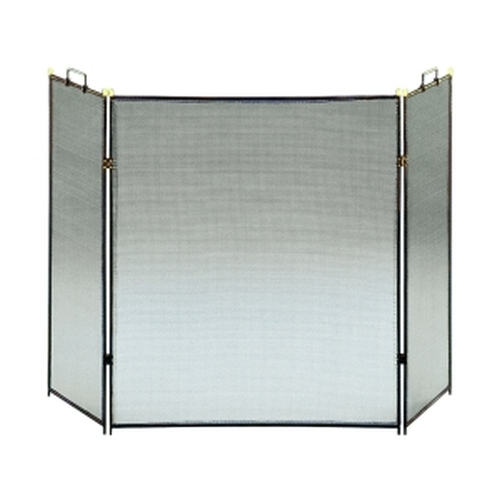 "Black 3 Fold Screen 30'' H x 26'' W with 13"" Side Panels"