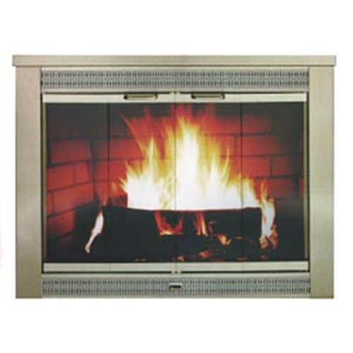 Regal Antique Brass Plated Fireplace Glass Door - Size 02