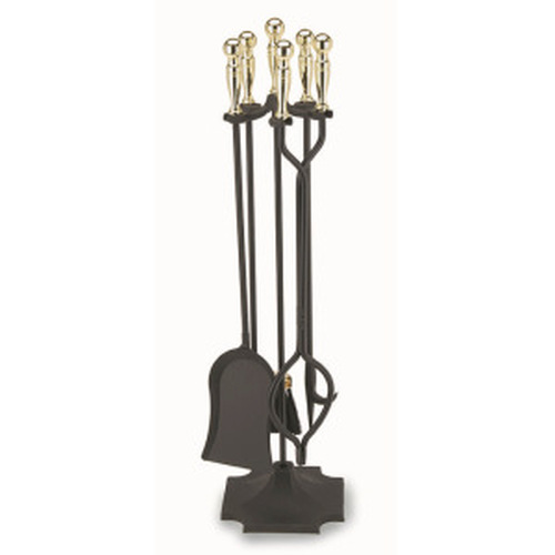 5 Piece Polished and Black Tool Set with Square Base Ball Handles 32'' Tall