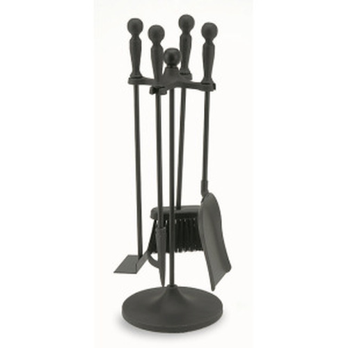 5 Piece Black Mini Tool Set-Ball Handles 22'' Tall