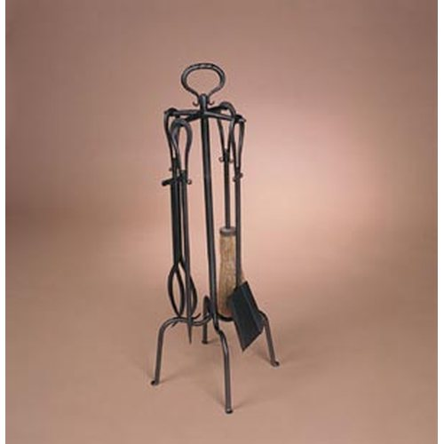 5 Piece Natural Wrought Iron Loop Tool Set 32'' Tall
