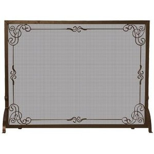 Bronze Finish Decorative Scroll Screen