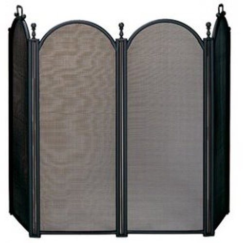 "4 Panel Black folding Screen 34"" H x 54"" W"