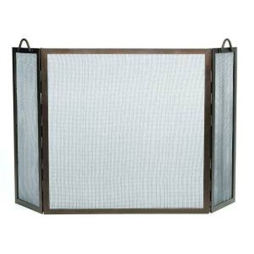 Roman Bronze Finish Screen With Twisted Rope Handles 30'' H x 30'' W