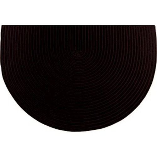 Black 46'' x 31'' Half Round Braided Rug