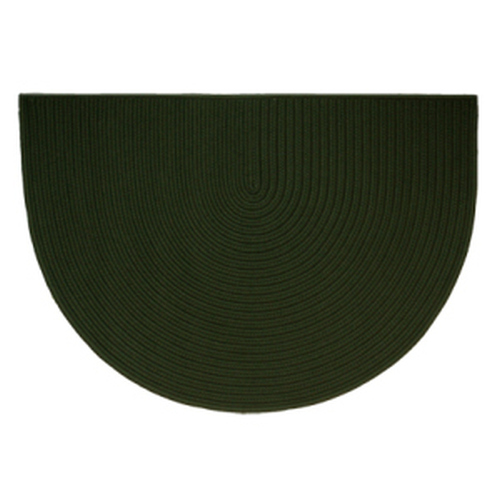 Dark Green 46'' x 31'' Half Round Braided Rug