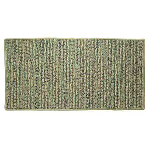 "Taupe 22"" x 44\"" Rectangle Tweed Braided Rug"