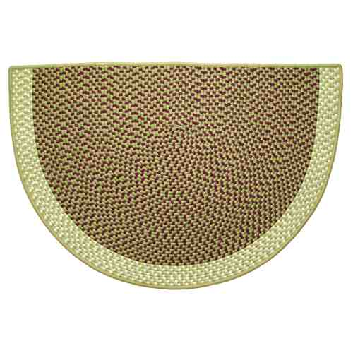 Sherwood 46'' x 31'' Half Round Tweed Braided Rug