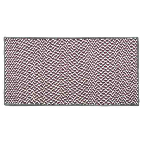 "Gray/Corona 22"" x 44"" Rectangle Tweed Braided Rug"