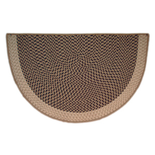 Sandstorm 46'' x 31'' Half Round Tweed Braided Rug