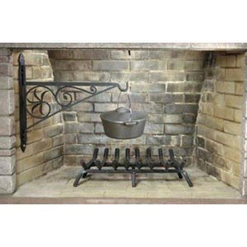 24'' Wrought Iron Fireplace Crane