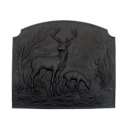 Deer Fireback 24 ¼'' Tall X 28 ¼'' Wide