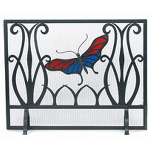 Monarch Butterfly Fireplace Screen 44'''W x 33'''H