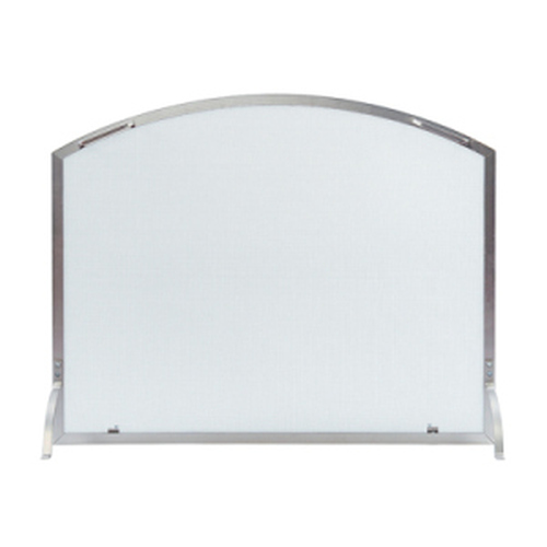 Neoclassic Brushed Steel Screen 30'' H x 38'' W