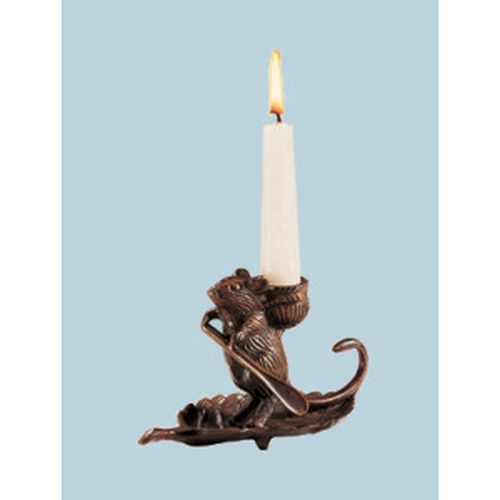 Intrepid Mouse Candleholder