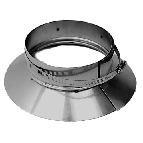 9'' Homeowners Choice 24 Gauge Stainless Storm Collar/Clamp