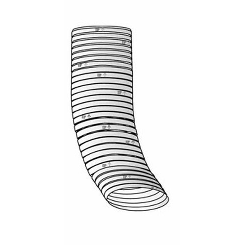 Homeowners Choice 5 3/4'' x 13 1/2'' Oval Flexible Stainless Steel Liner (priced per foot - order in 5 foot increments - up to 25'' maximum)