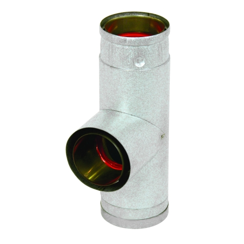 "4"" Ultimate PelletPipe™ Tee w/Tee cap"
