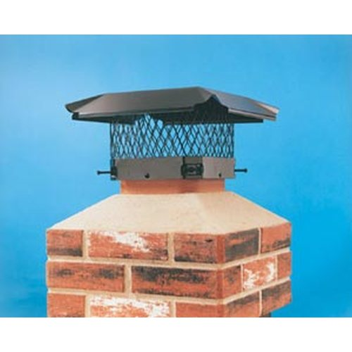 "Hy-C Black Combo Chimney Cover 18"" x 18"""