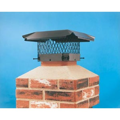 Hy-C Black Combo Chimney Cover 9'' x 18''
