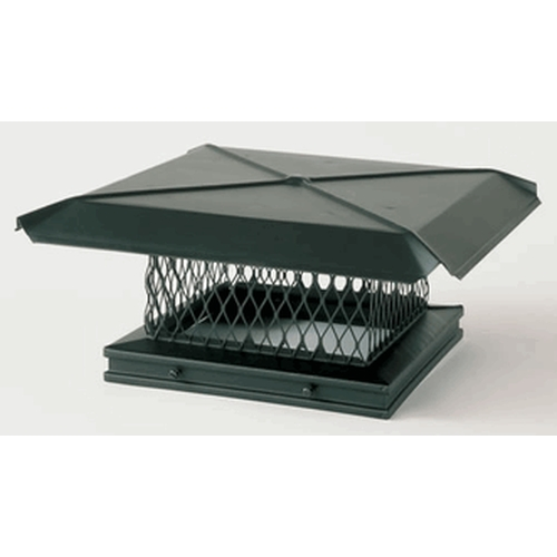 Gelco Black Single Flue 8 X 8 Rain Cap
