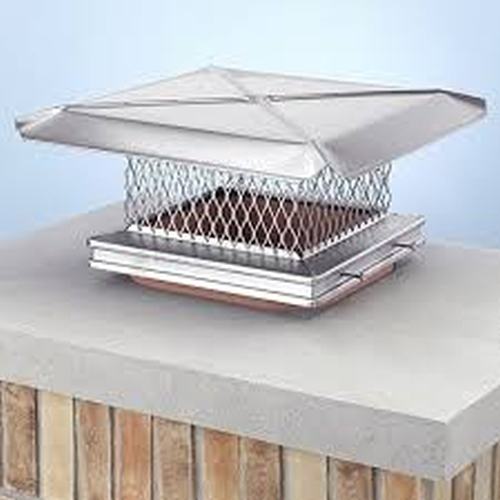 Gelco Stainless Steel 8 x 8 Single Flue Rain Cap