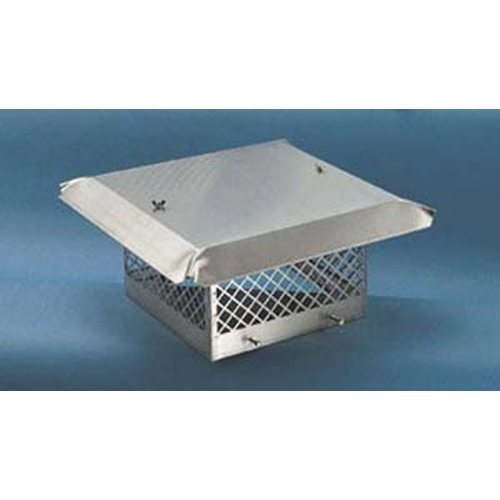 Sweeps Perfection Single Flue Stainless Steel Rain Cap (fits outside flue tile size from) 15 1/2'' x 15 1/2'' to 17 1/2'' x 17 1/2''