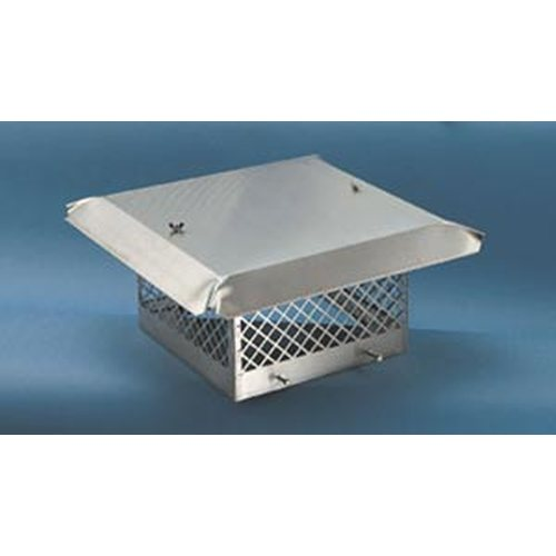 Sweeps Perfection Single Flue Stainless Steel Rain Cap (fits outside flue tile size from) 6 1/2'' x 6 1/2'' to 8 1/2'' x 8 1/2''